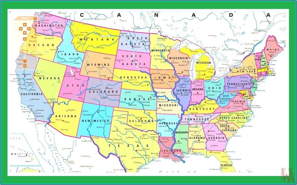 Interactive Map Of Usa States And Capitals