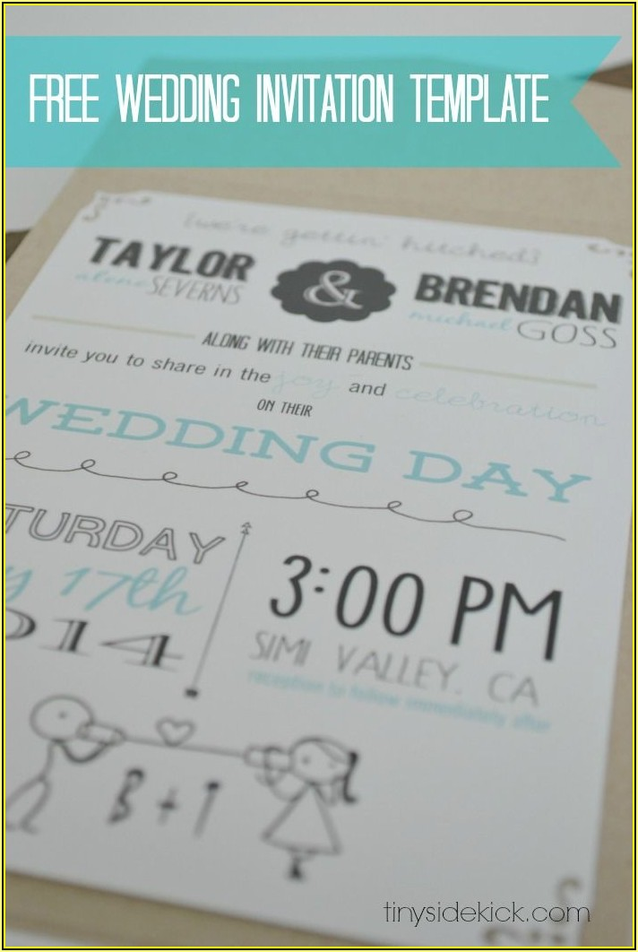 Invitation Inserts Templates Free