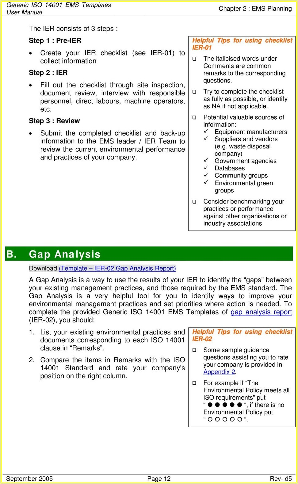 Iso 22301 Gap Analysis Template
