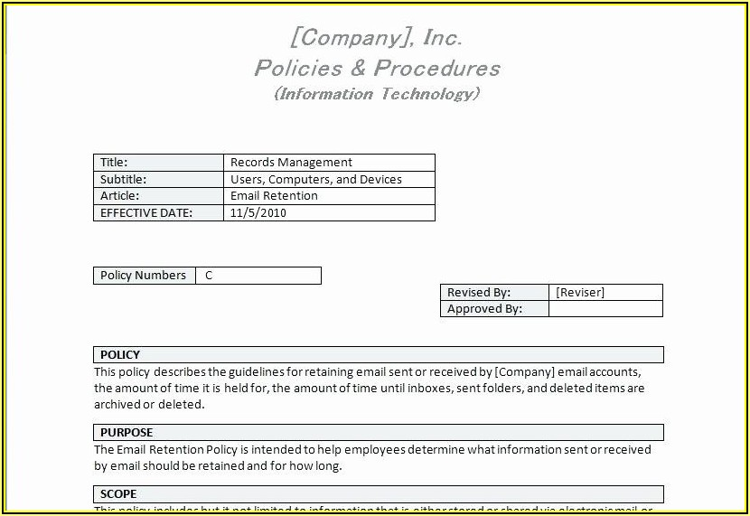 It Security Policy Template Nist