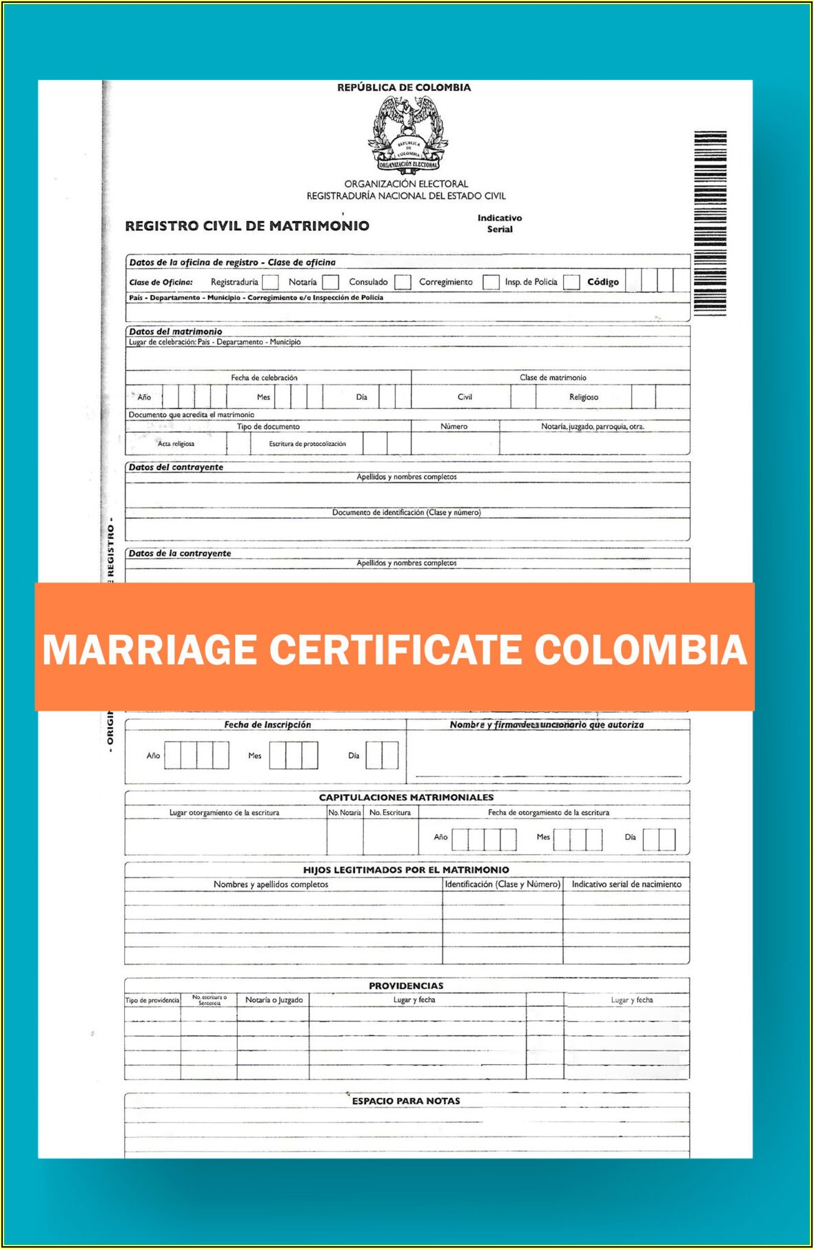 Italian Marriage Certificate Translation Template