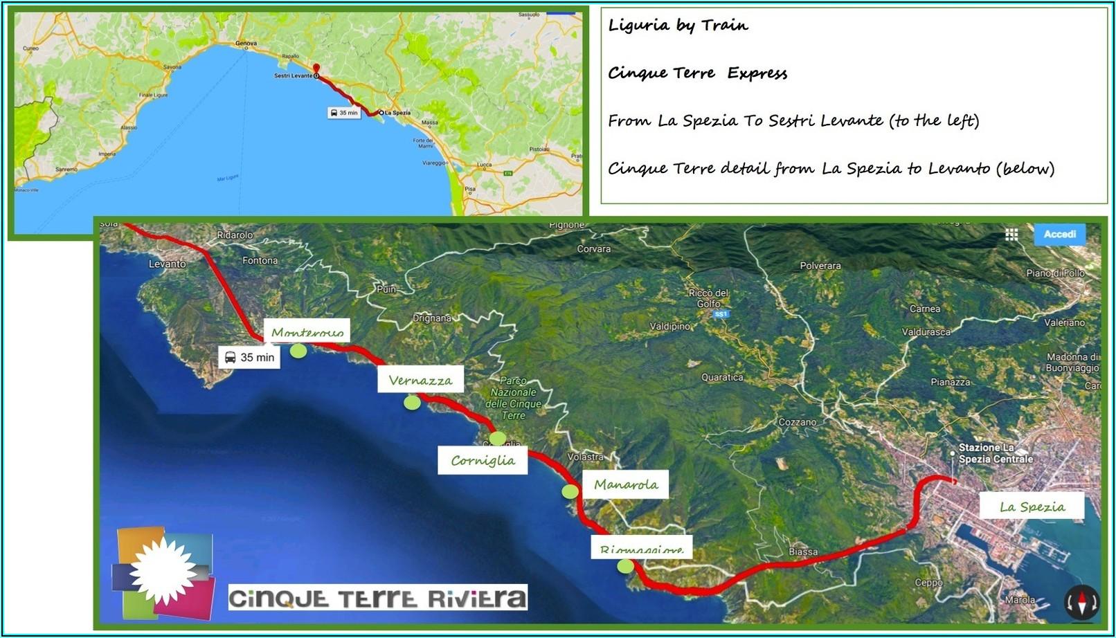 Italy Rail Map Cinque Terre