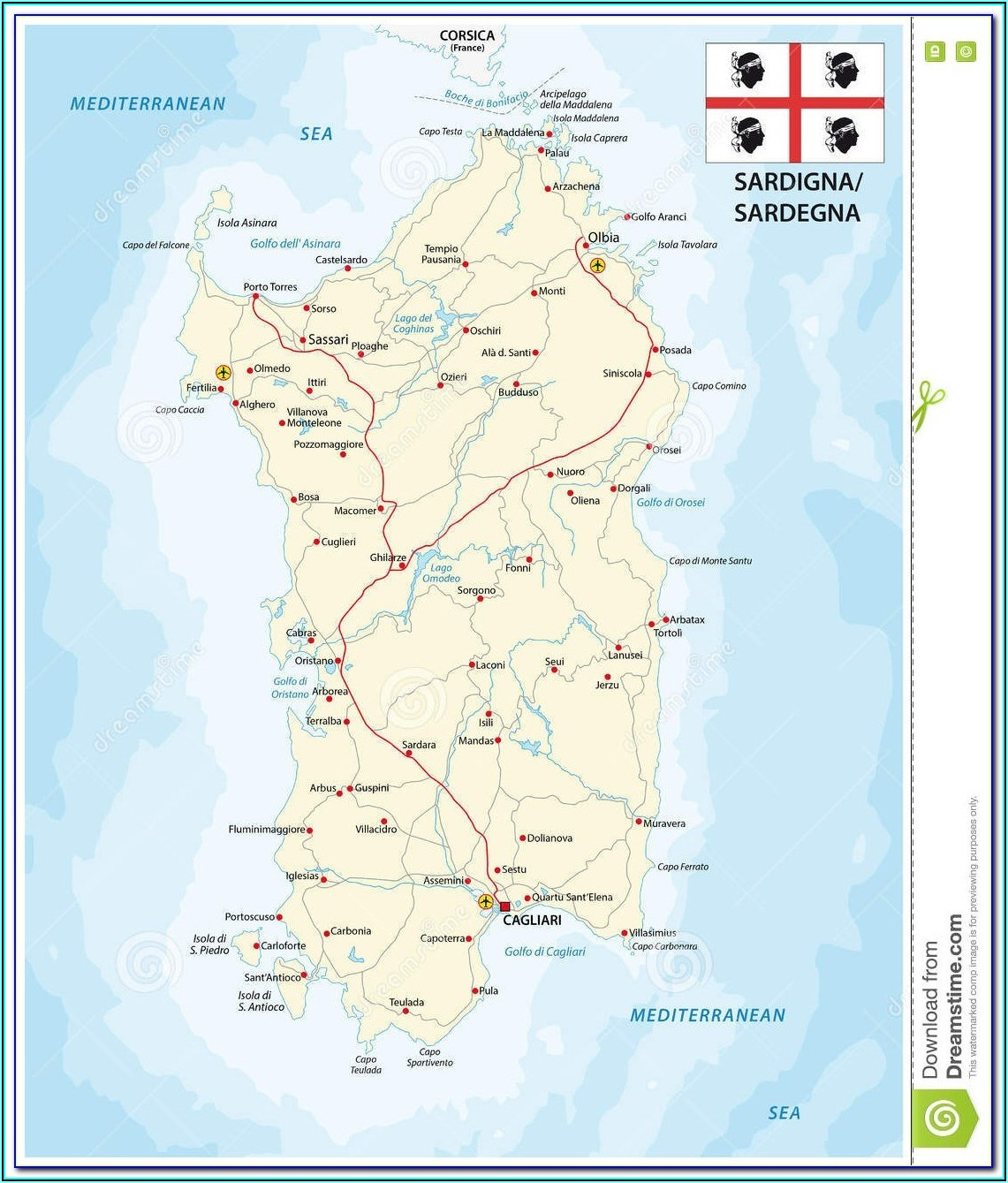 Italy Rail Map Puglia