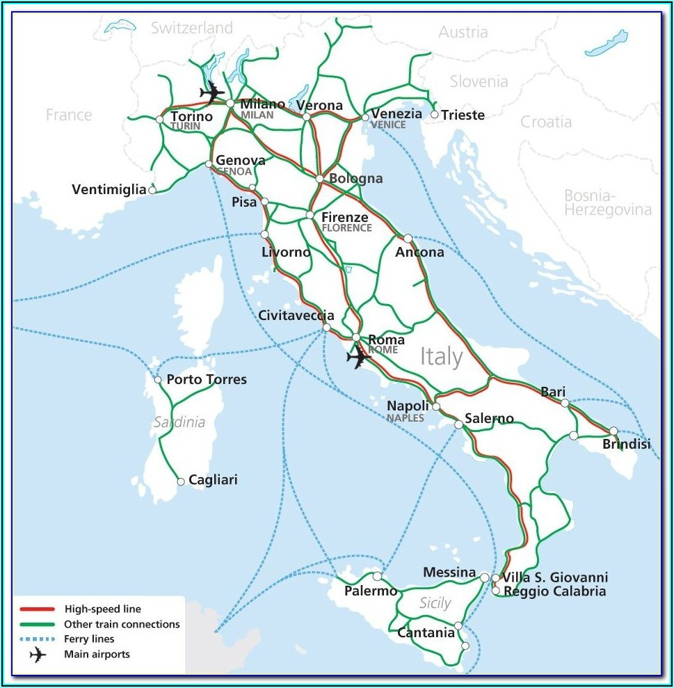Italy Rail Map Timetable