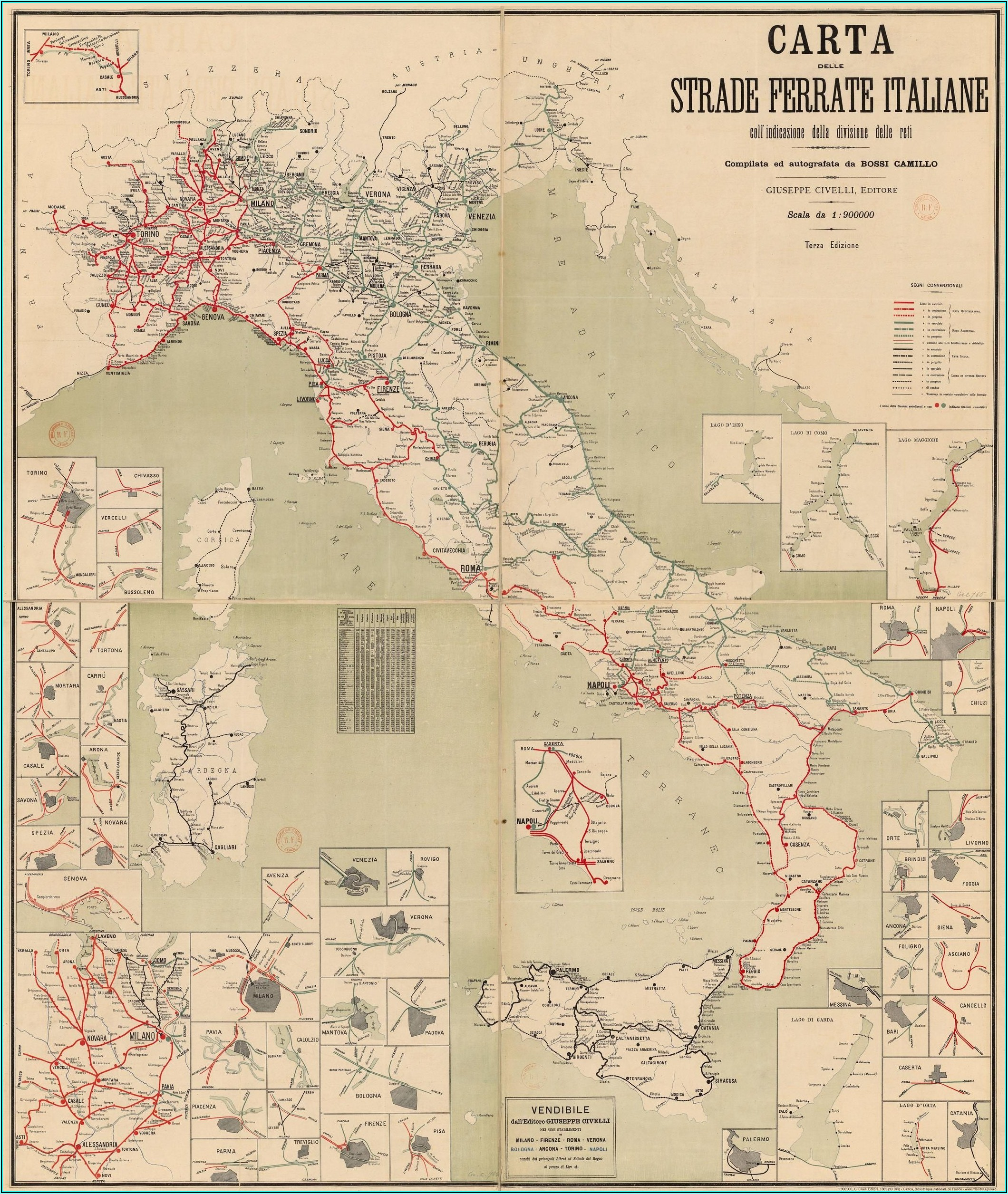 Italy Rail Network Map