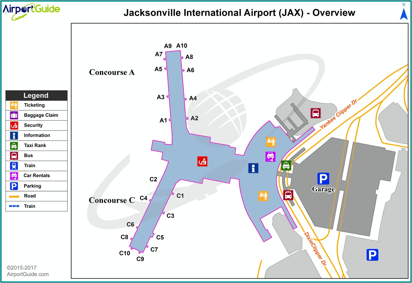 Jacksonville International Airport Parking Map