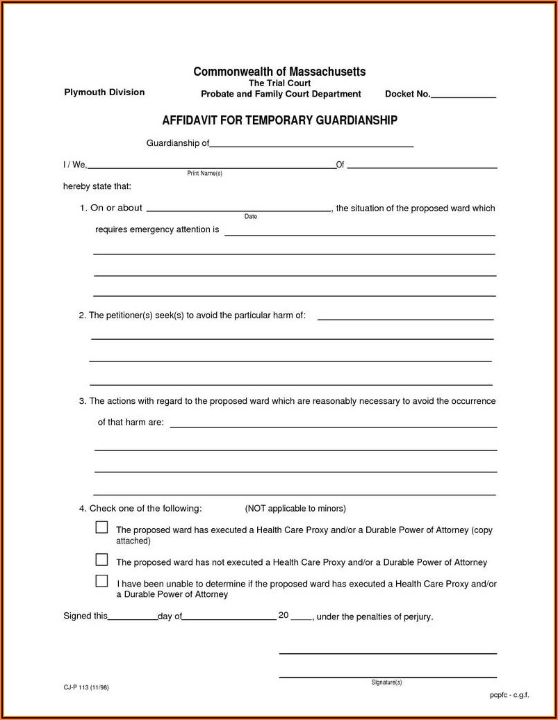 Kansas Temporary Custody Forms