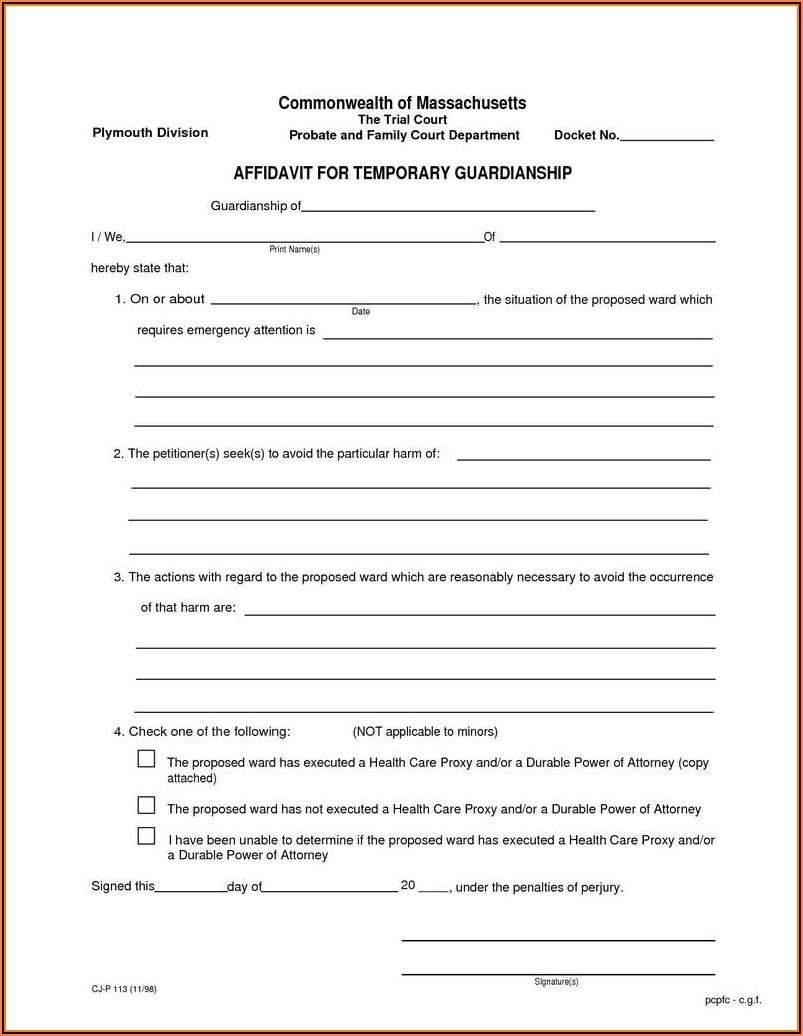 Kansas Temporary Custody Forms