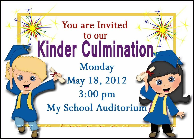 Kindergarten Graduation Invitation Templates Free Download