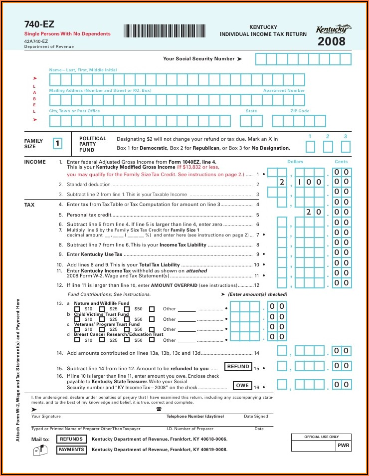 Ky Ez Tax Forms