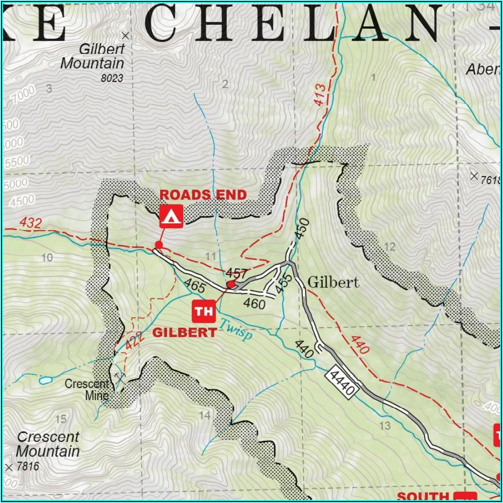 Lake Chelan Sawtooth Wilderness Map