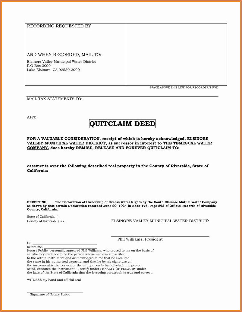 Lake County Illinois Quit Claim Deed Form