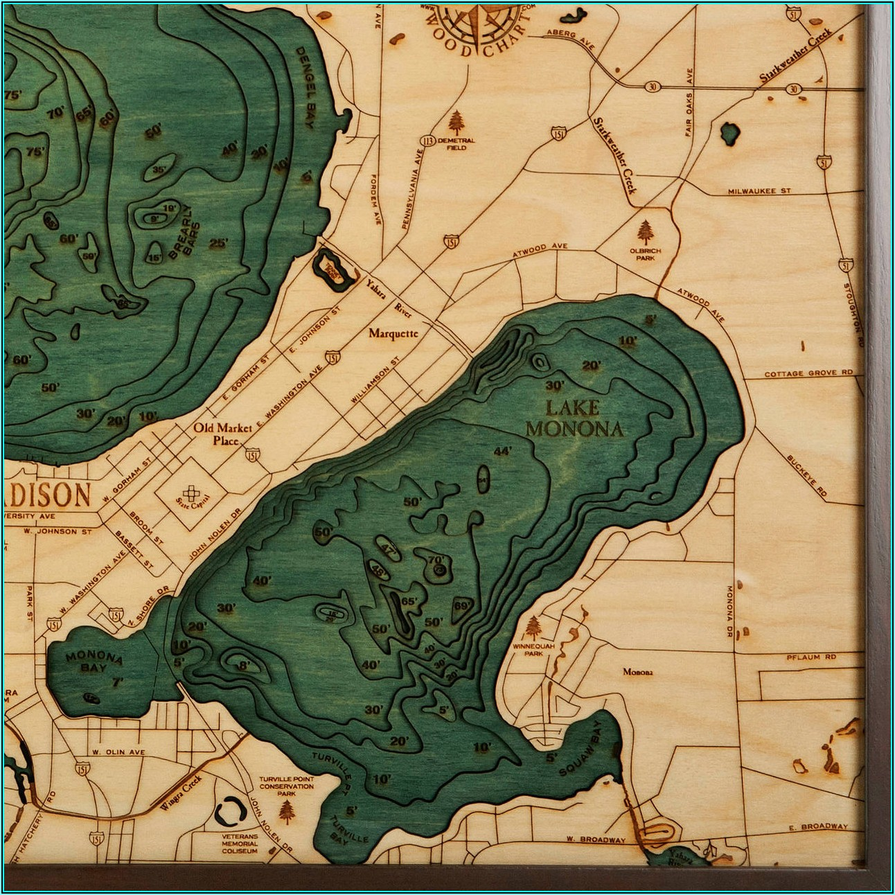 Lake Mendota Topographic Map