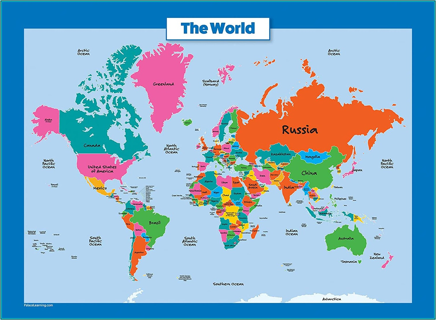 Laminated Map Of The World