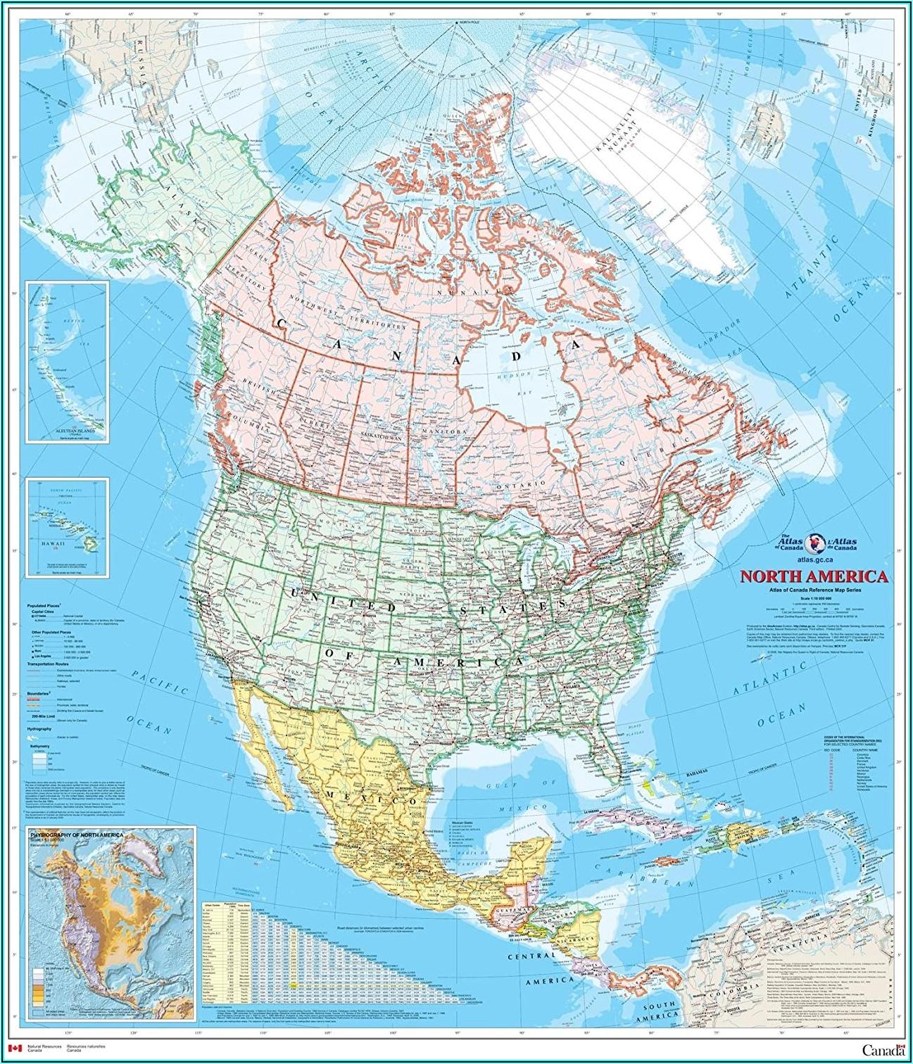 Laminated Wall Map Of Canada