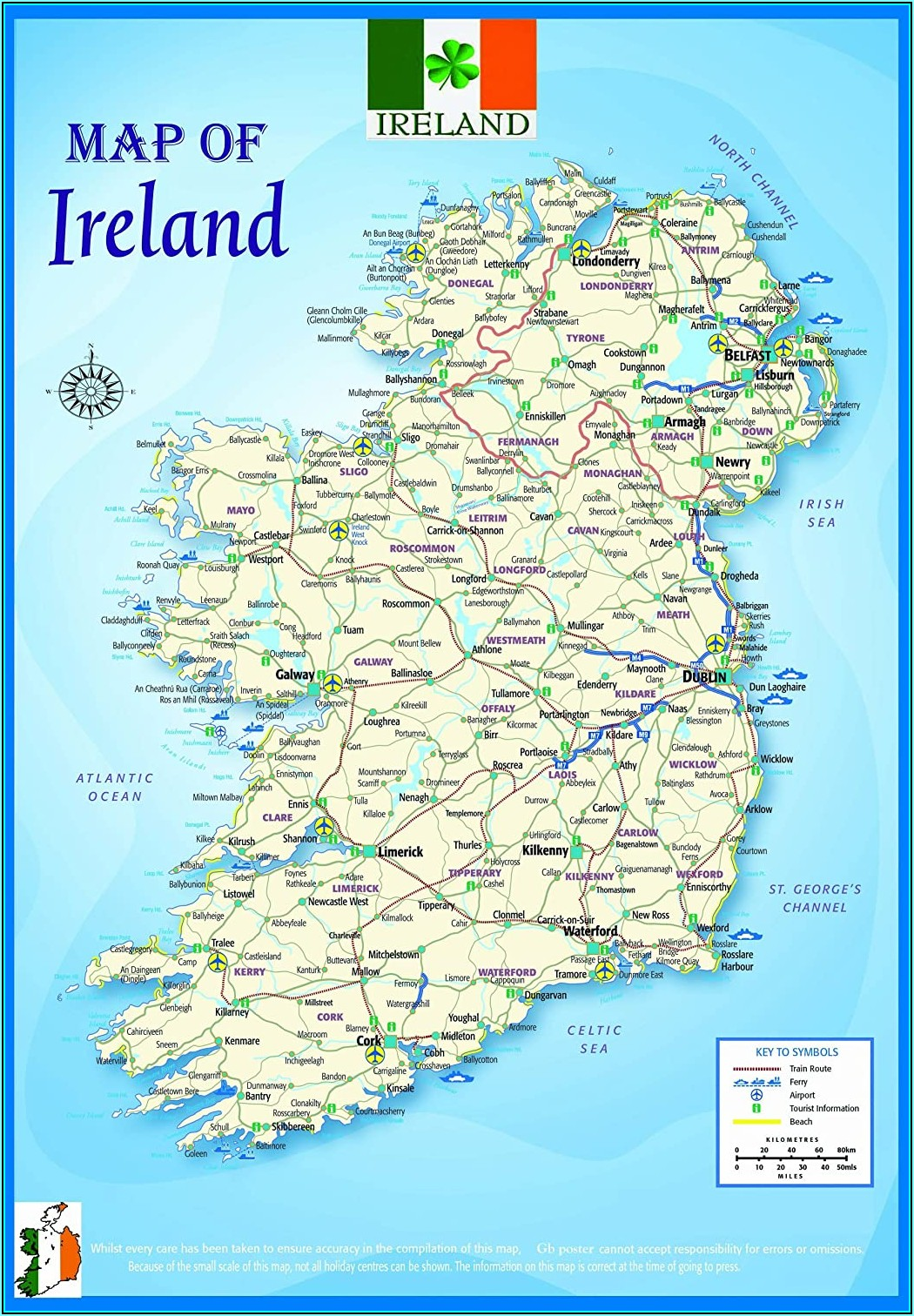 Laminated Wall Map Of Ireland