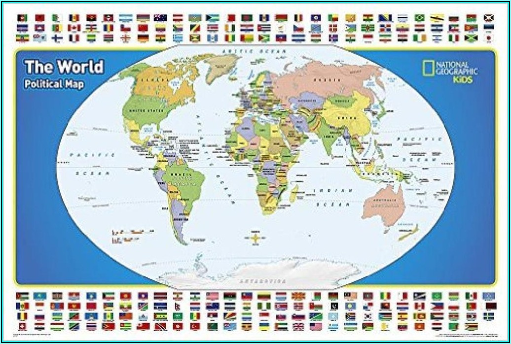 Laminated Wall Map Of The World