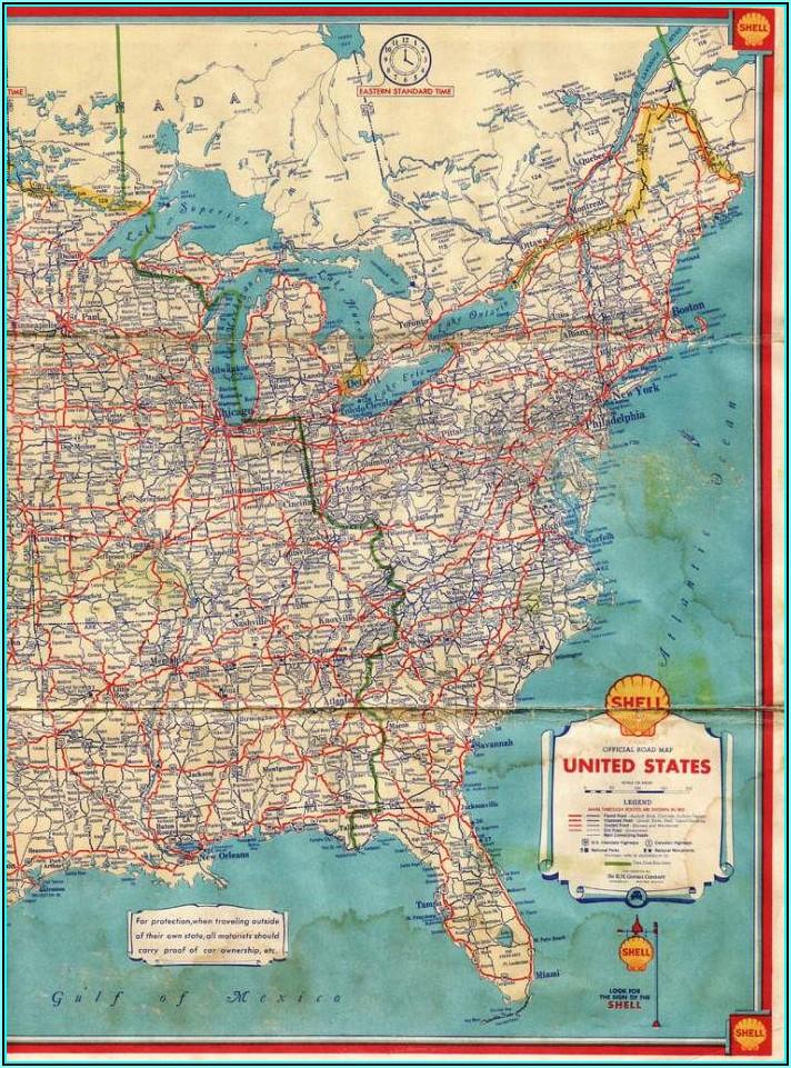 Laminated Wall Maps Of Usa