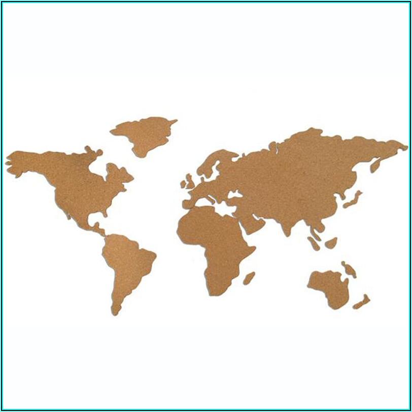 Large Cork World Map