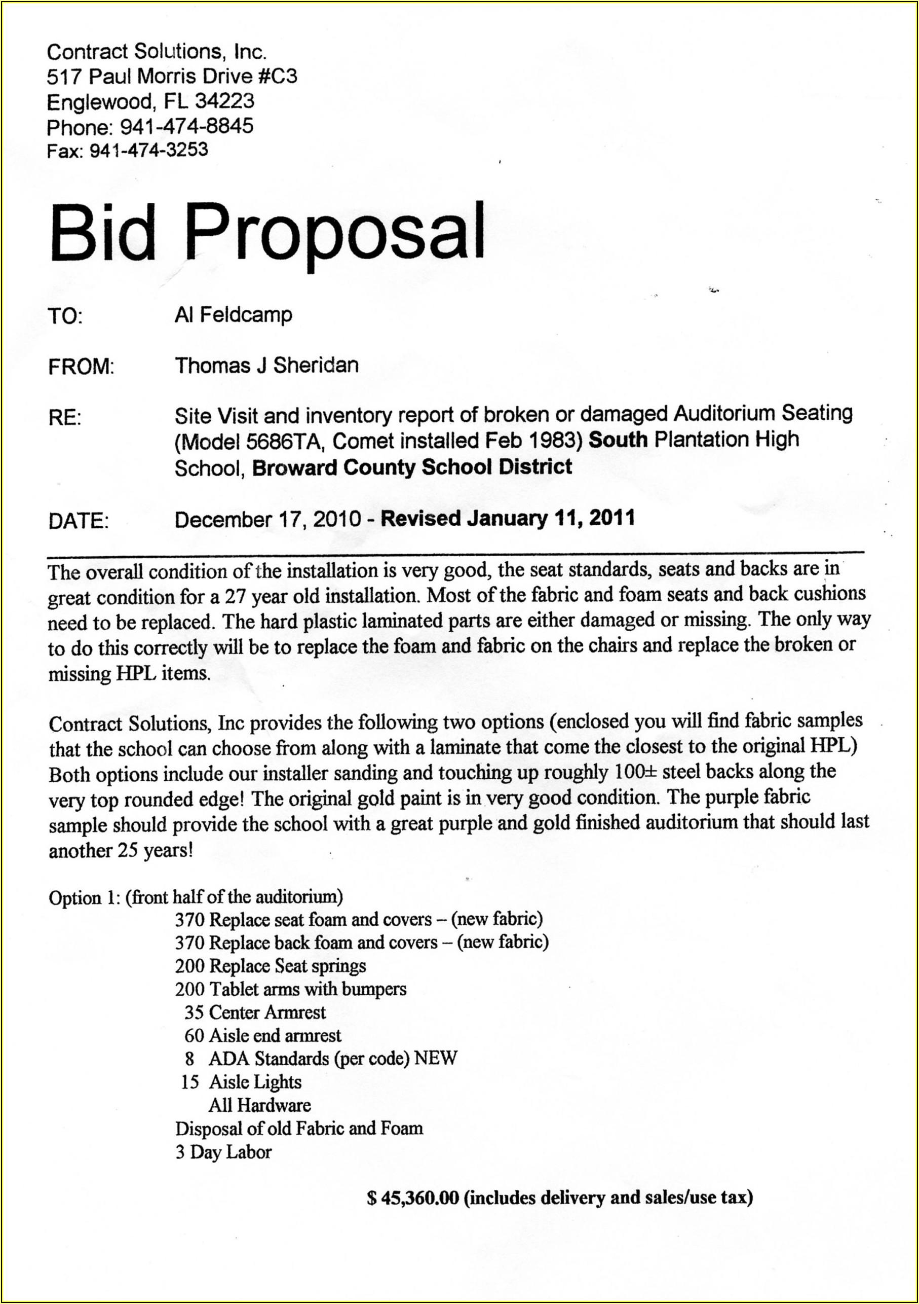 Lawn Care Bid Proposal Template
