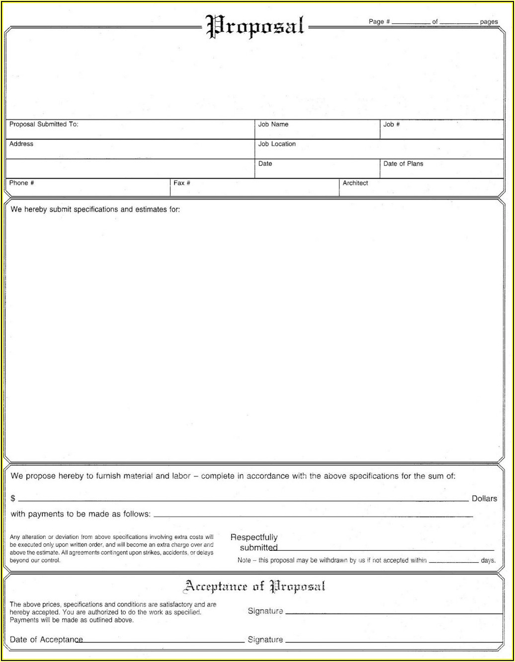 Lawn Care Bid Template