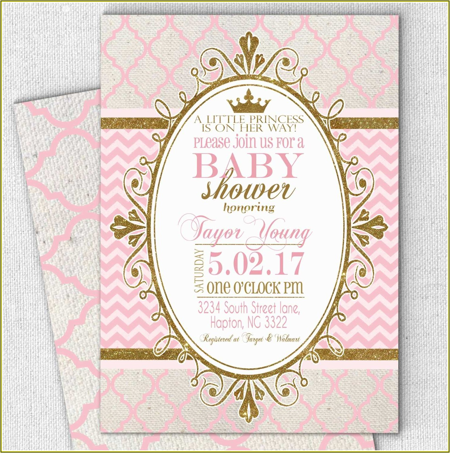 Little Royal Princess Baby Shower Invitation Templates