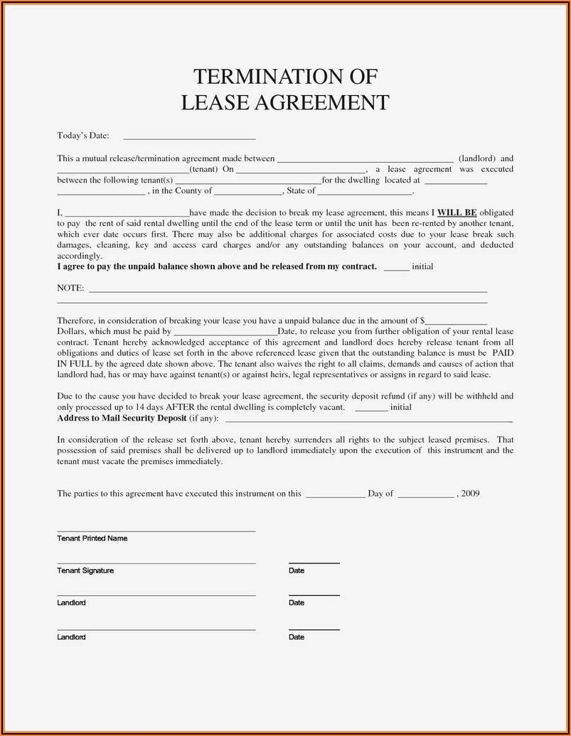 Louisiana Notice To Vacate Form