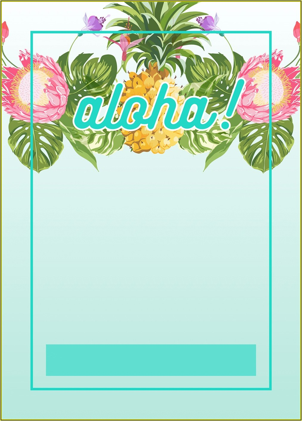 Luau Invitations Templates Free