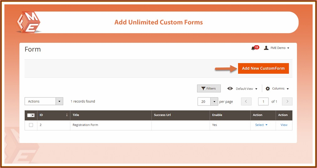 Magento 2 Custom Form Builder