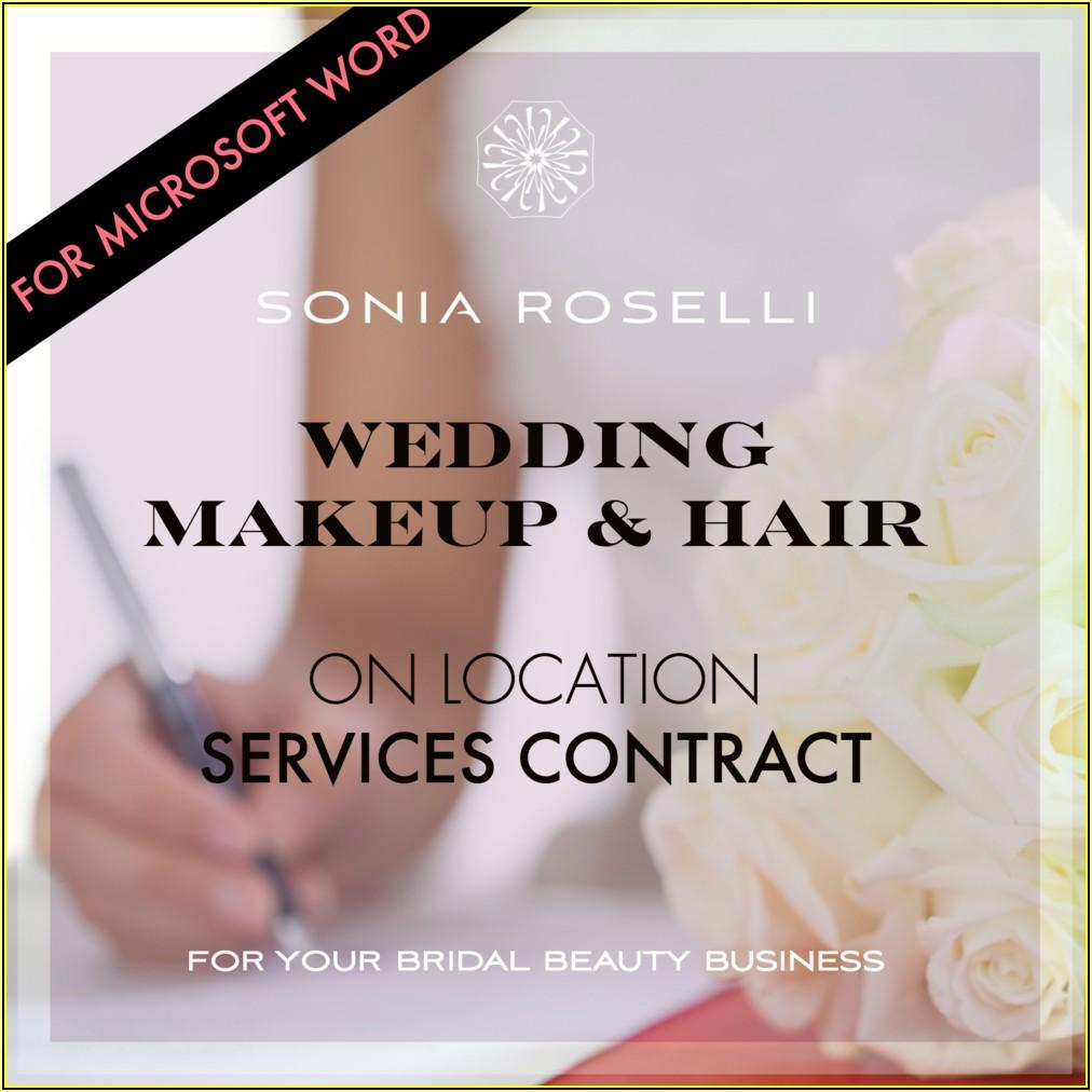 Makeup Artist Wedding Contract Template
