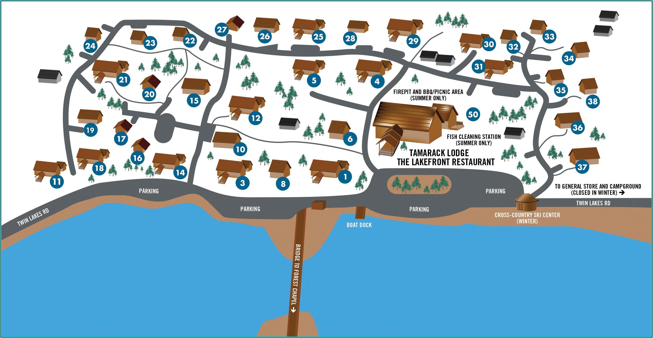 Mammoth Lakes Lodging Map