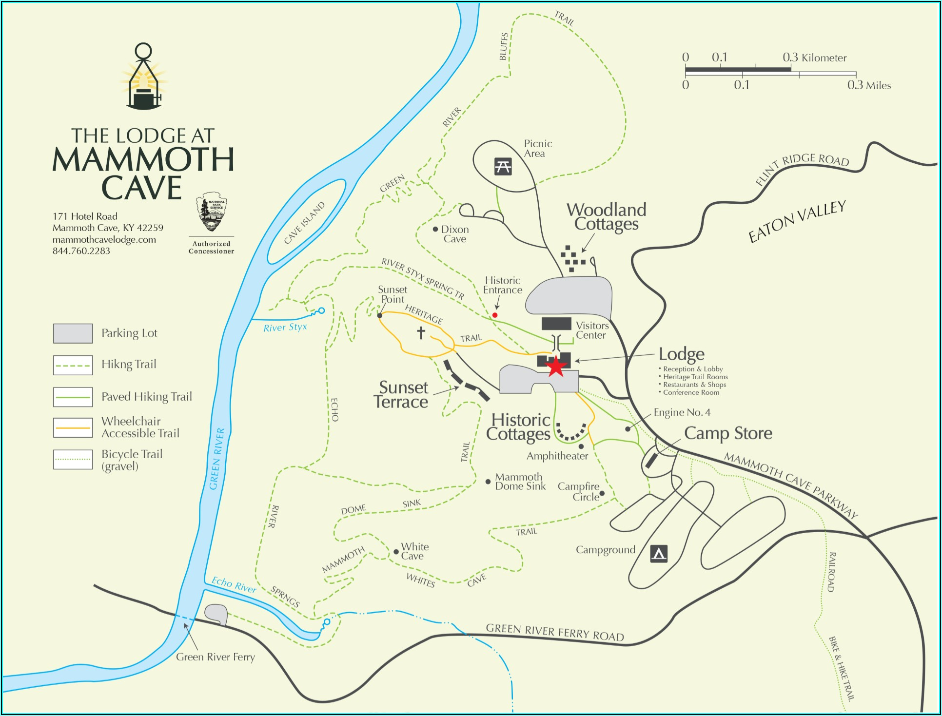 Mammoth Lodging Map