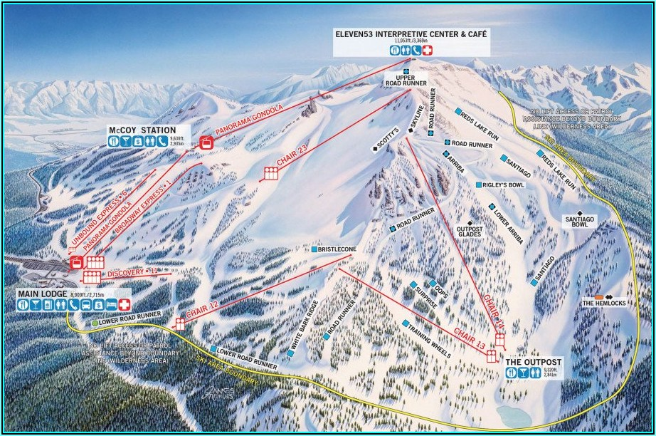 Mammoth Mountain Lodging Map