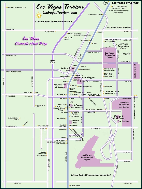 Map Of Hotel In Vegas Strip