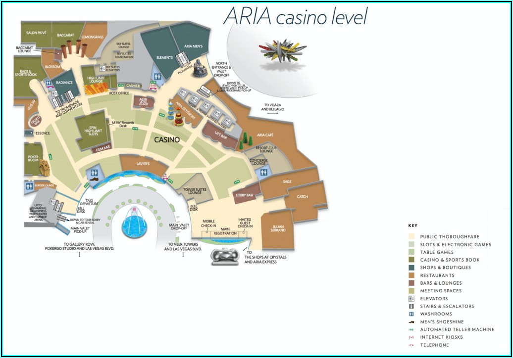Map Of Hotel On Las Vegas Strip