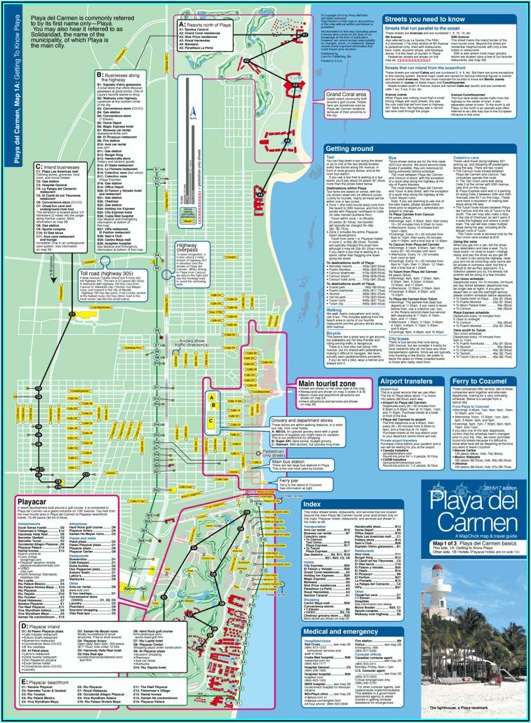Map Of Hotel Zone Playa Del Carmen