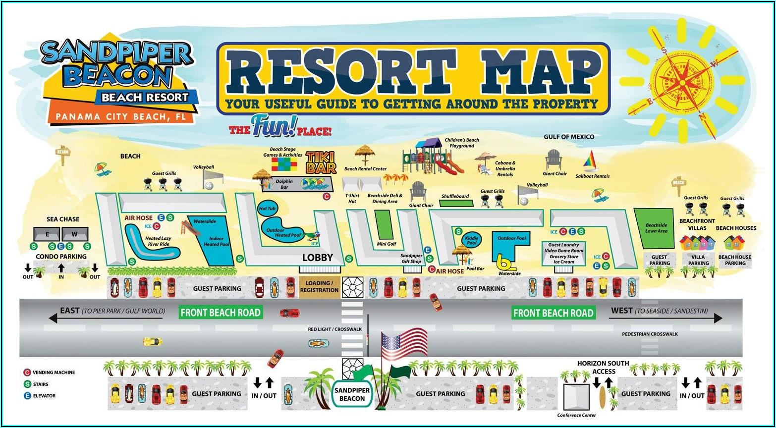 Map Of Hotels In Panama City Beach Fl