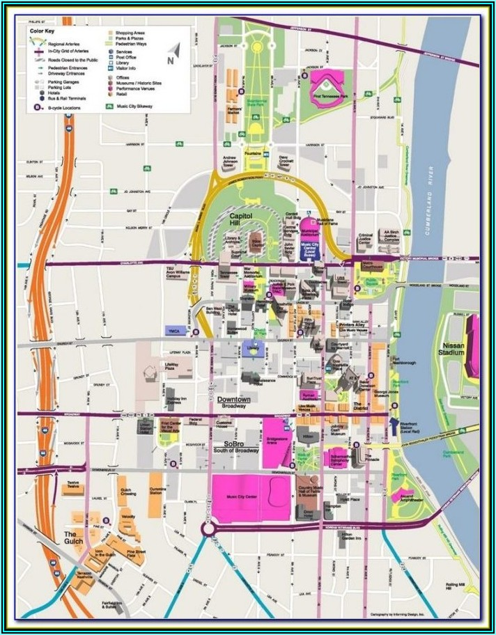 Map Of Nashville Tn Hotels