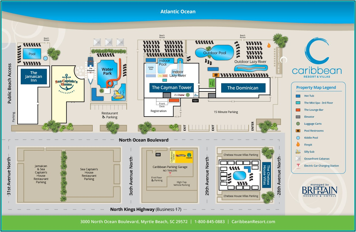 Map Of North Myrtle Beach Resorts