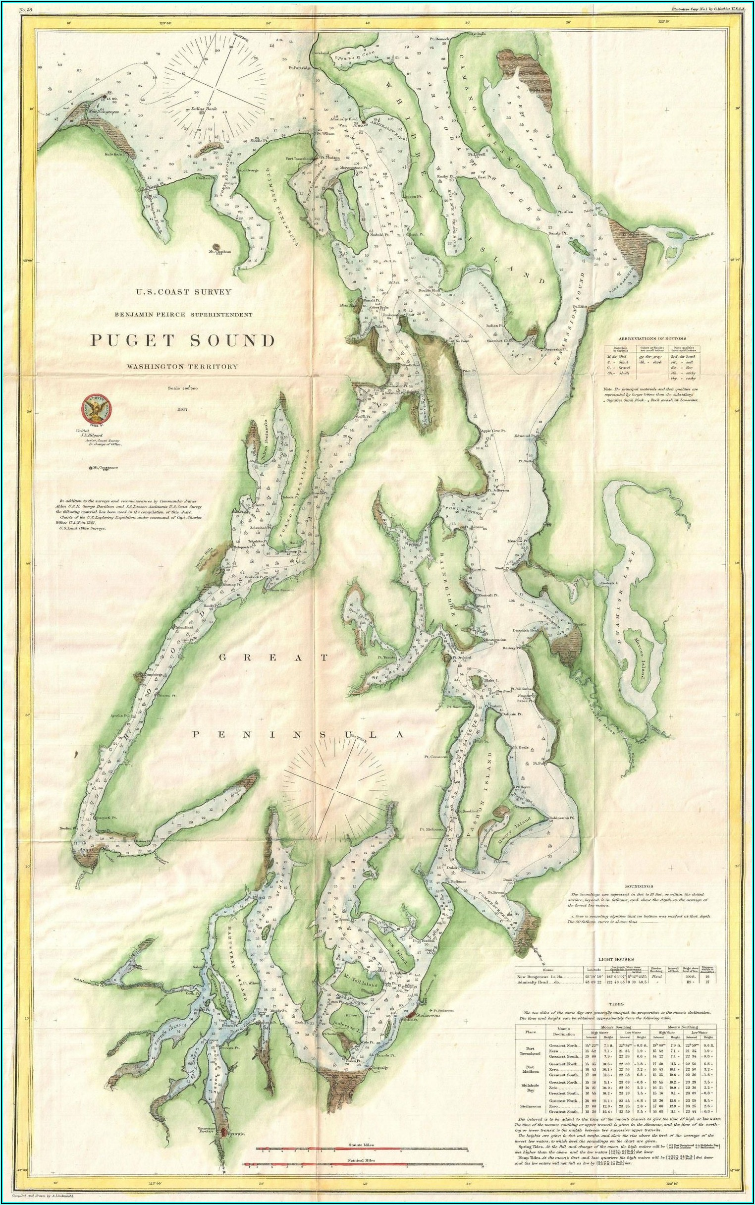 Map Of Puget Sound Washington