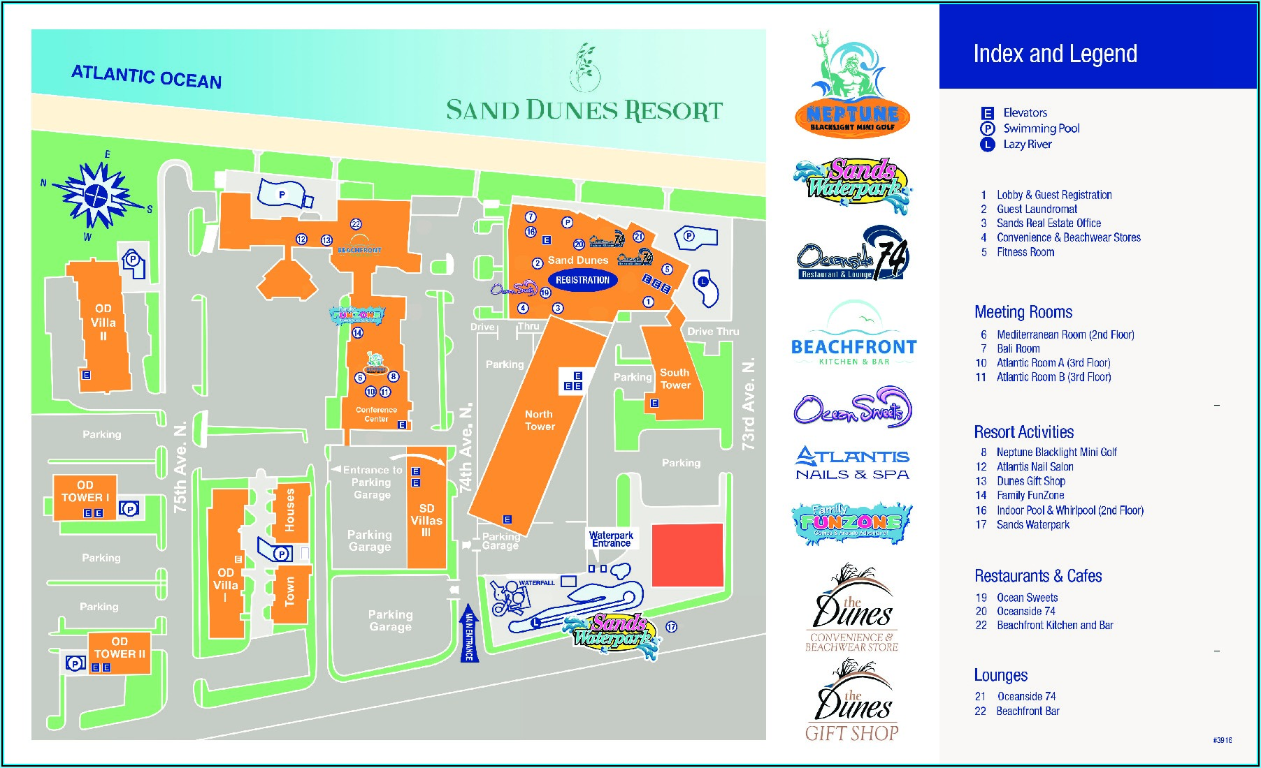 Map Of Resorts In Myrtle Beach Sc