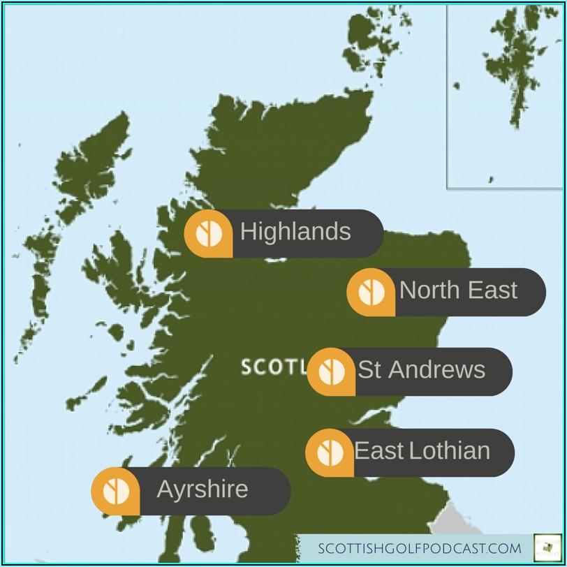 Map Of Scottish Golf Courses