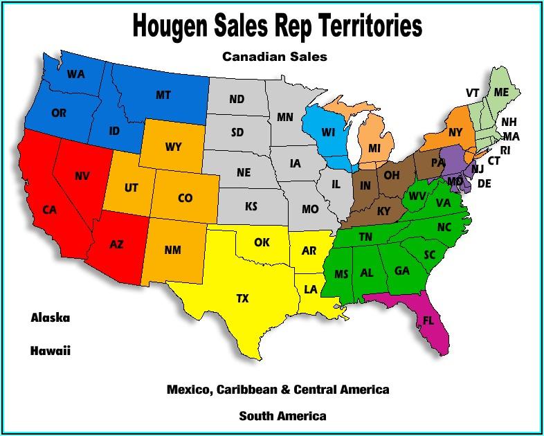 Map Of Us Sales Territories