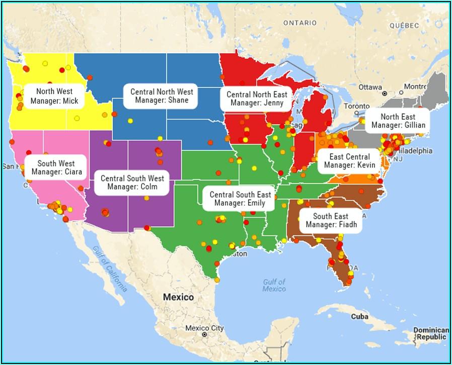 Map Sales Territories Free