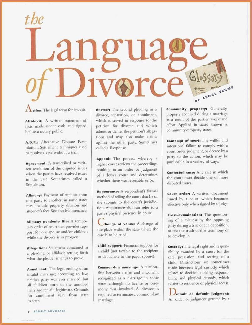 Marital Settlement Agreement Form Florida