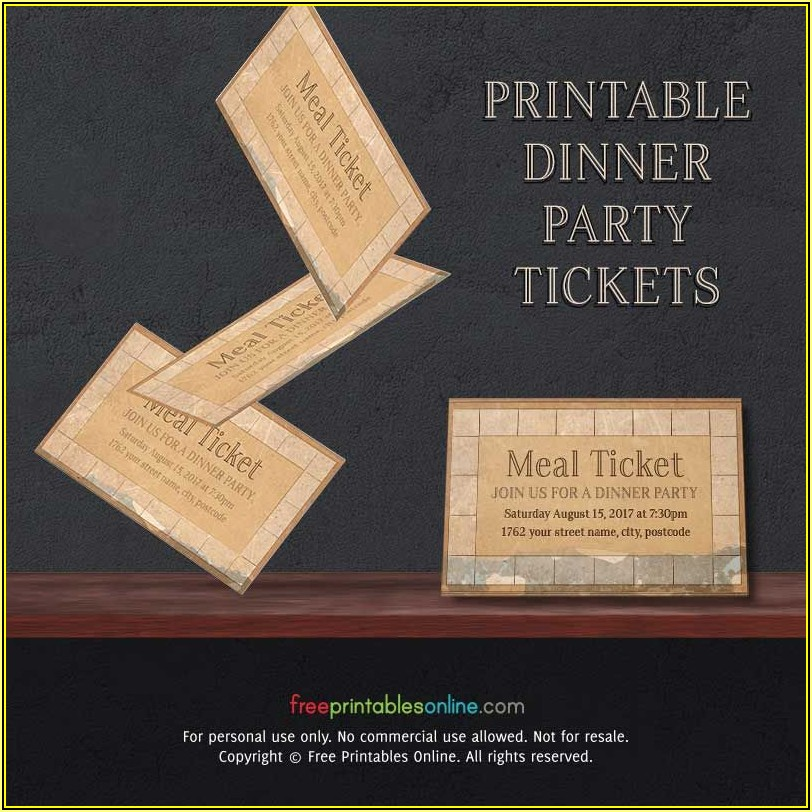 Meal Ticket Samples