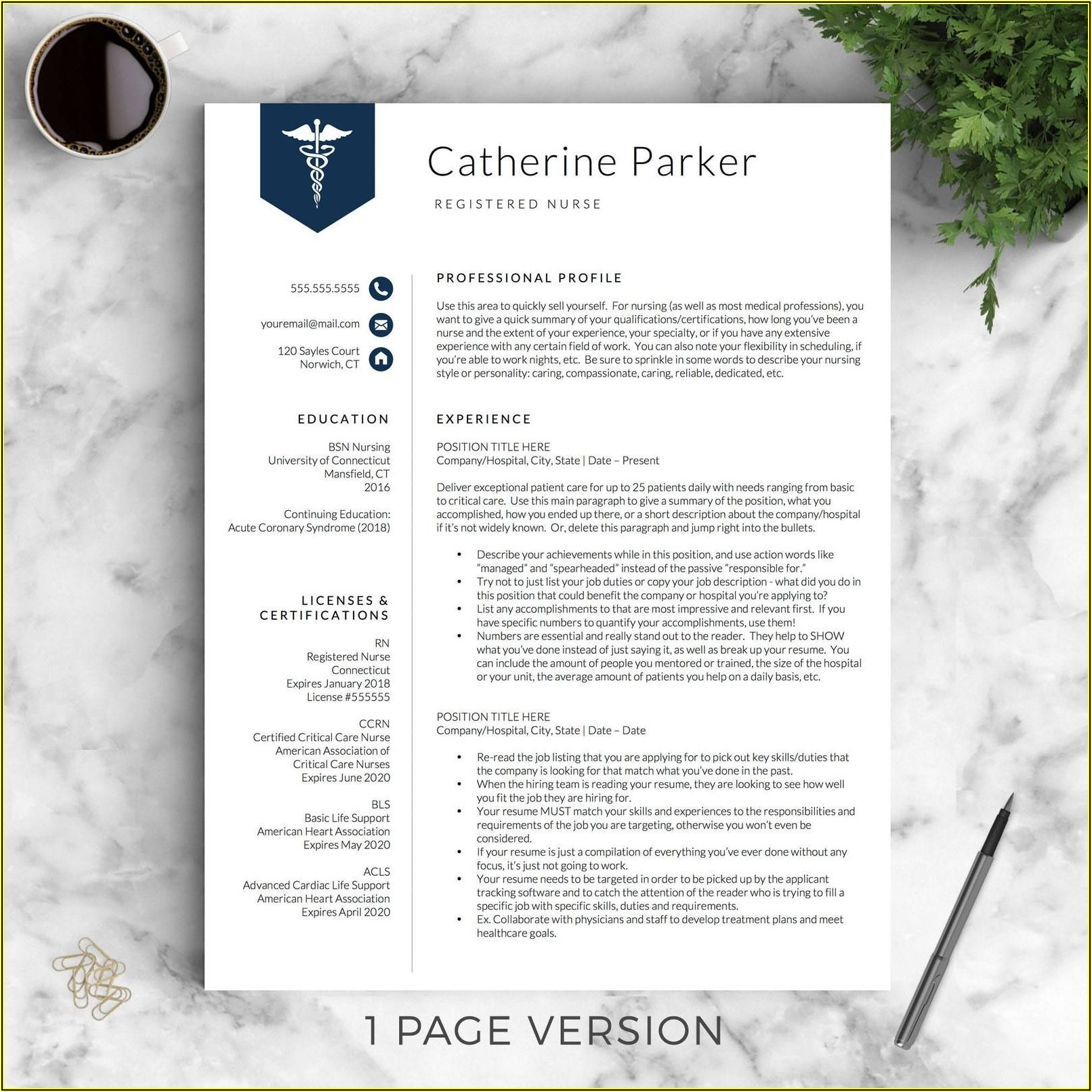 Medical Cv Template Word Free Download