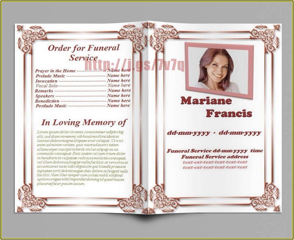 Memorial Service Template Free