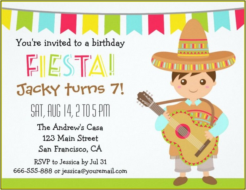 Mexican Fiesta Invitation Templates Free