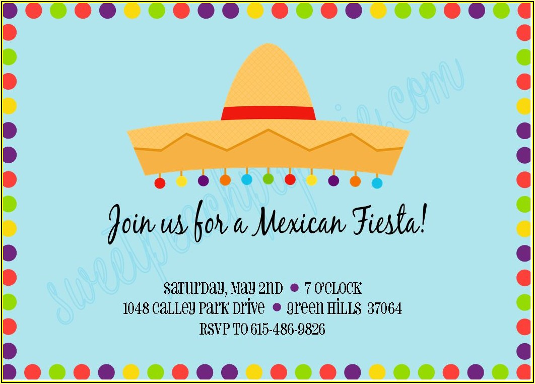 Mexican Invitation Template Free